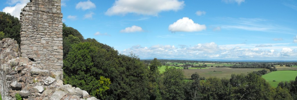 The view from Beeston Castle